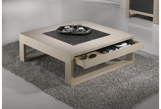 Table basse le meuble indispensable du salon - Table basse carre bois ...