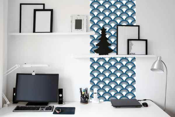 relooker ses murs avec du papier peint adh sif. Black Bedroom Furniture Sets. Home Design Ideas